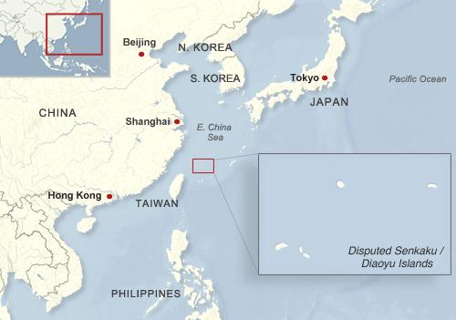 Senkaku Island Map The Senkaku/Diaoyu Islands   An Interactive Map | Voice of America